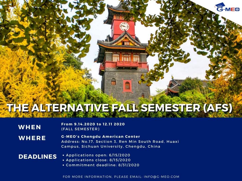 2020 Alternative Fall Semester in China
